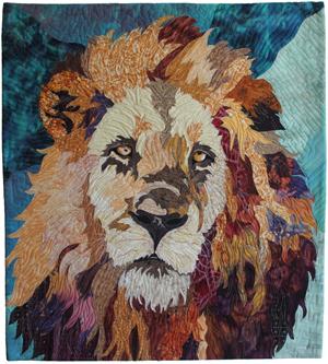 Lion art quilt